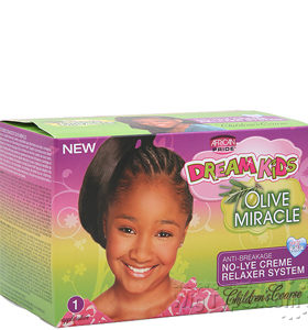 African Pride Kit défrisant Dream Kids  Olive Miracle Anti Breakage - Coarse