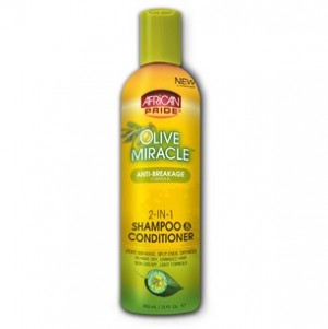 African Pride  Olive Miracle 2-in1 shampooing conditionneur