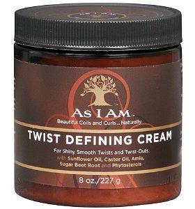 AS I AM Crème de Coiffage et de definition des boucles -Twist Defining Cream 227g